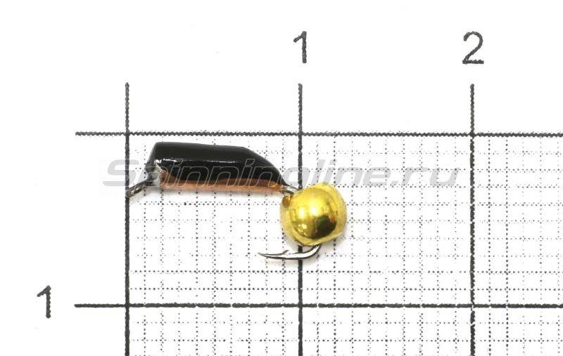 Мормышка Столбик №3 d2 латунный шар, медь -  1