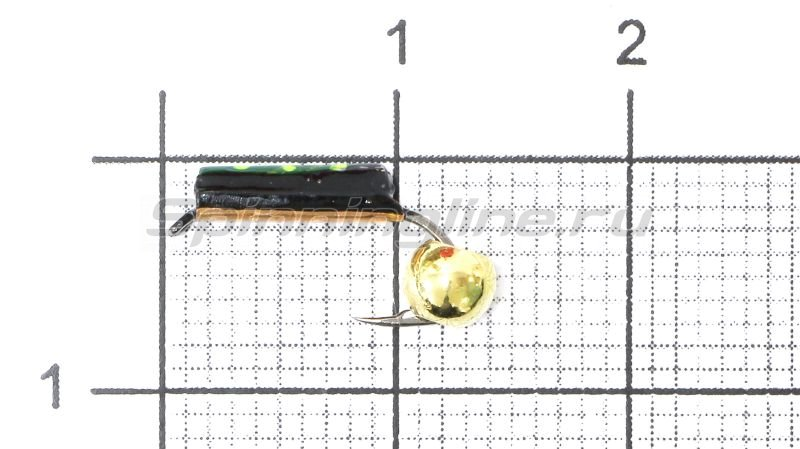 Санхар - Мормышка Столбик №2 d1.5 латунный шар, медь - фотография 1