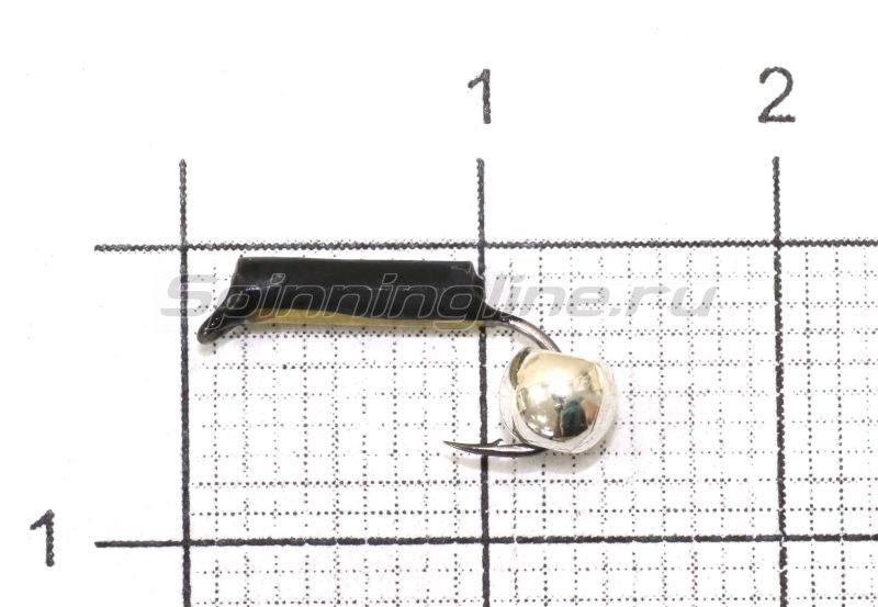 Мормышка Столбик №2 d1.5 серебряный шар, латунь -  1