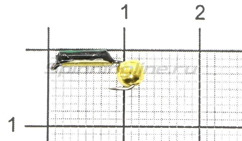Мормышка Столбик №1 d1.5 латунный шар, латунь -  1