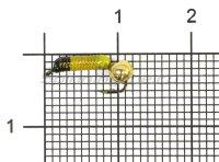 Мормышка Ручейник №1 d1 латунный шар, желтый