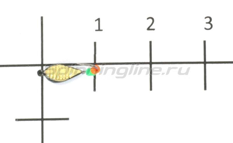 Мормышка Лодочка рифленая №2 латунь -  1