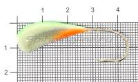 Мормышка Fish Gold судаковая Трехгранка Светлячок кр. Gamakatsu 14гр 08 зеленый