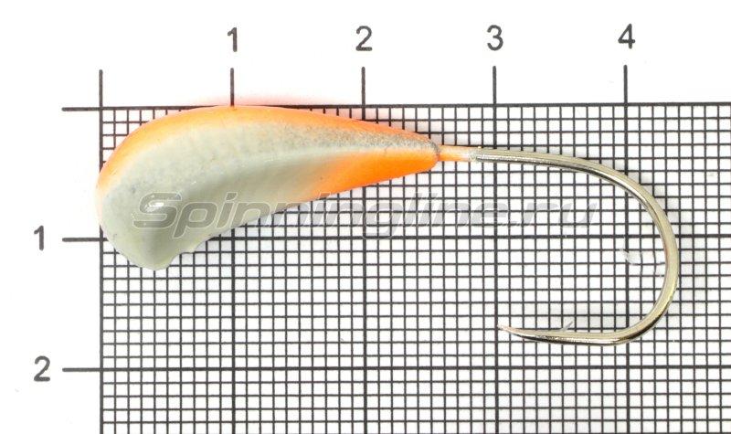 Мормышка судаковая Трехгранка Светлячок кр. Gamakatsu 14гр 10 красный -  1
