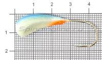 Мормышка судаковая Трехгранка Светлячок кр. Gamakatsu 14гр 11 синий