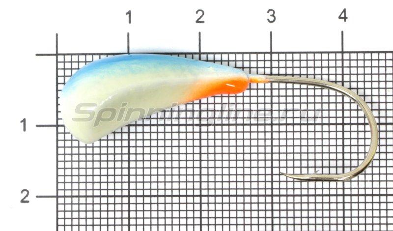 Мормышка судаковая Трехгранка Светлячок кр. Gamakatsu 14гр 11 синий -  1