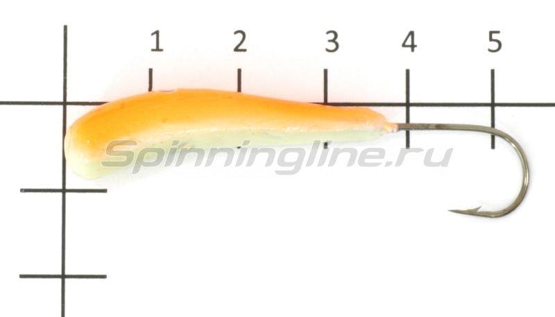 Fish Gold - Мормышка судаковая Клык 1 Светлячок 13гр 09 оранжевый - фотография 1