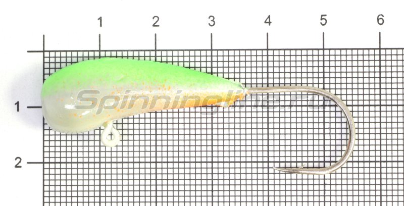 Мормышка судаковая Уралка Светлячок кр. Gamakatsu 22гр зеленый -  1