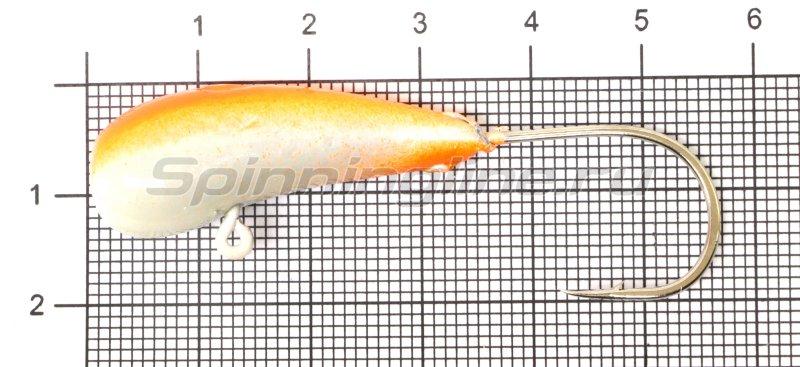 Мормышка Fish Gold судаковая Уралка Светлячок кр. Gamakatsu 22гр красный -  1