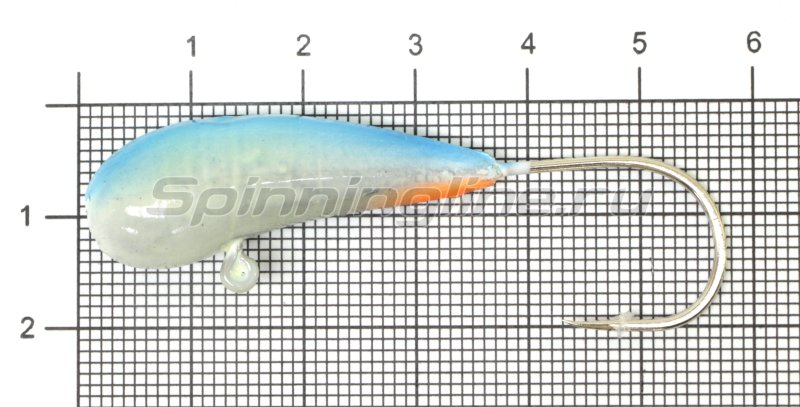 Мормышка судаковая Уралка Светлячок кр. Gamakatsu 22гр синий -  1