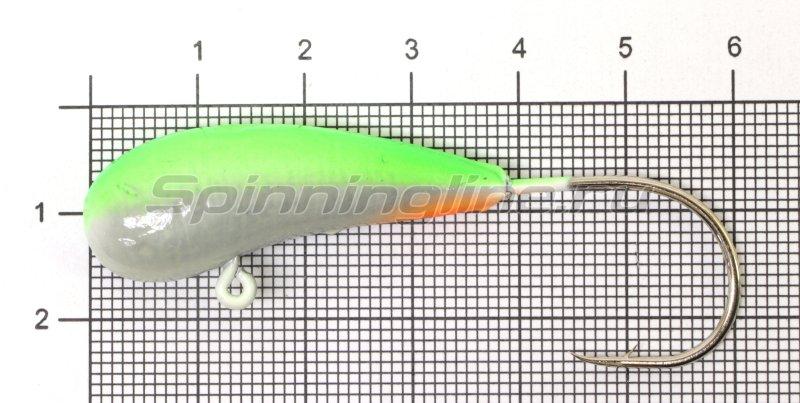Fish Gold - Мормышка судаковая Уралка Светлячок кр. Gamakatsu 28гр зеленый - фотография 1