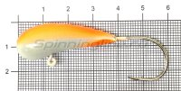 Мормышка судаковая Уралка Светлячок кр. Gamakatsu 28гр красный