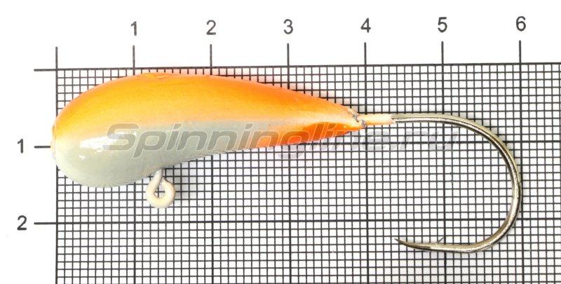 Мормышка Fish Gold судаковая Уралка Светлячок кр. Gamakatsu 28гр красный -  1