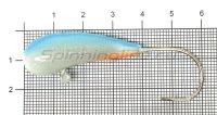 Мормышка судаковая Уралка Светлячок кр. Gamakatsu 28гр синий