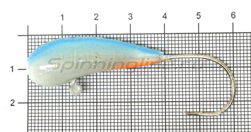 Мормышка судаковая Уралка Светлячок кр. Gamakatsu 28гр синий -  1