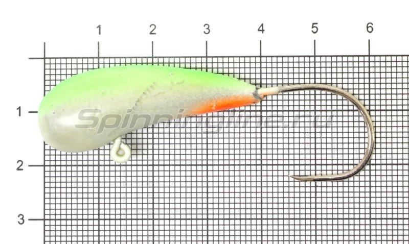 Мормышка судаковая Уралка Светлячок кр. Gamakatsu 32гр зеленый -  1