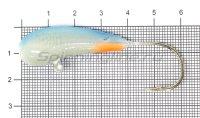 Мормышка Fish Gold судаковая Уралка Светлячок кр. Gamakatsu 32гр синий