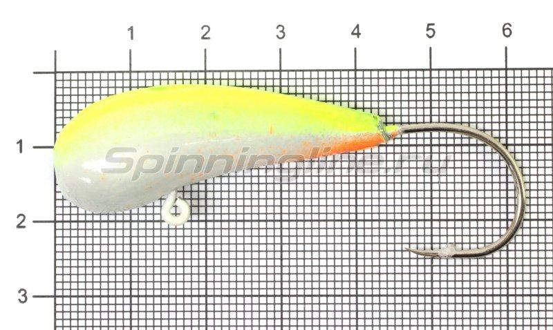 Мормышка судаковая Уралка Светлячок кр. Gamakatsu 40гр лимонный -  1