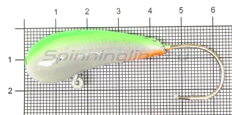 Fish Gold - Мормышка судаковая Уралка Светлячок кр. Gamakatsu 40гр зеленый - фотография 1