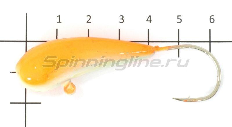 Мормышка судаковая Уралка Светлячок кр. Gamakatsu 40гр оранжевый -  1