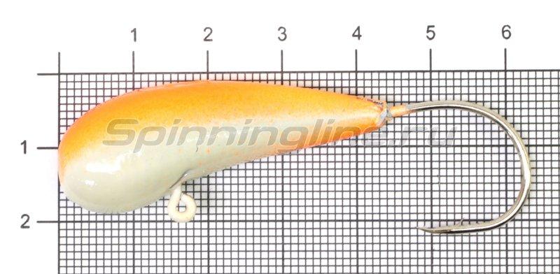 Мормышка Fish Gold судаковая Уралка Светлячок кр. Gamakatsu 40гр красный -  1