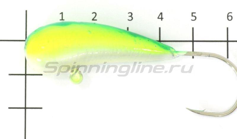 Мормышка судаковая Уралка Светлячок кр. Gamakatsu 40гр желто-синий -  1