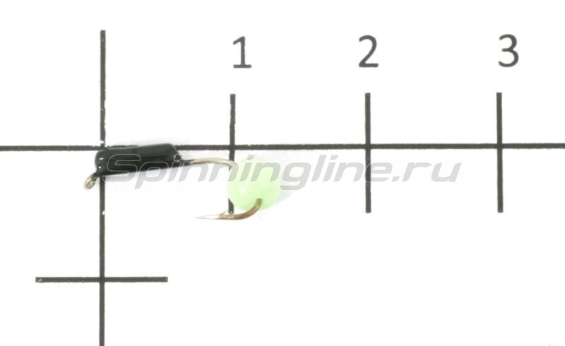 Мормышка Гвоздешарик кошачий глаз d1.5 светло-зеленый кр.maruto -  1