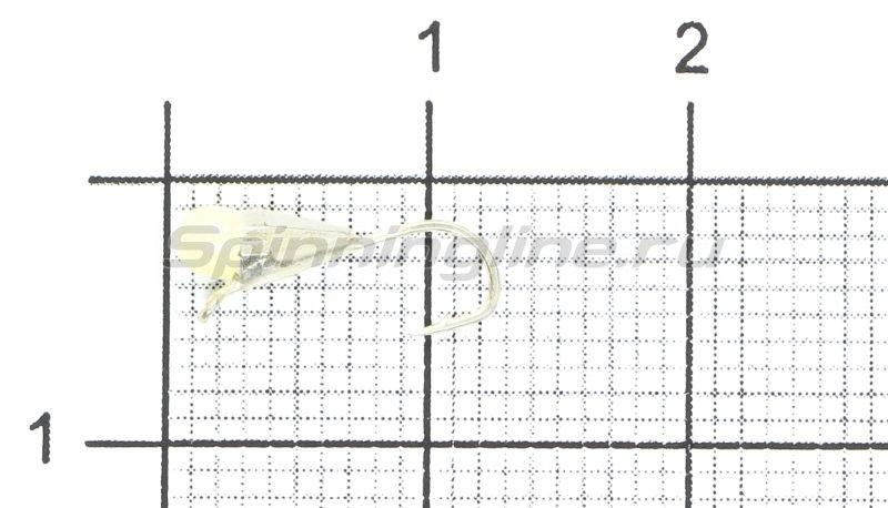 Мормышка LumiCom Капля граненая с ушком d3 серебро с фосфорной каплей -  1