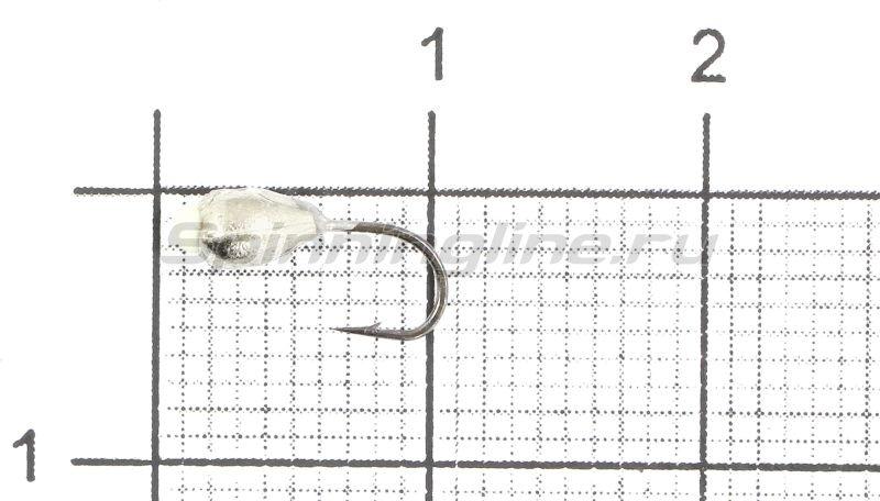 Мормышка Капля с отверстием d3 никель с фосфорной каплей -  1
