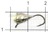 Мормышка Капля с ушком d6 никель с фосфорной каплей