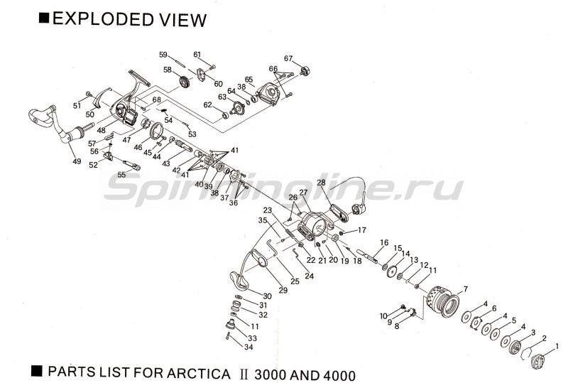 Катушка Ryobi Arctica II 7000 -  8