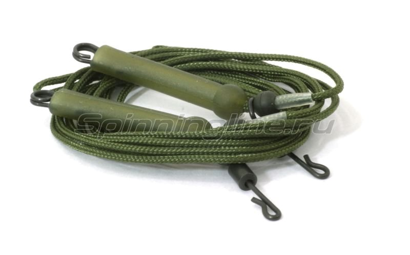 Противозакручиватель оснащенный Carpe Diem Helicopter Rig Leadcore 45lb 60см green -  1