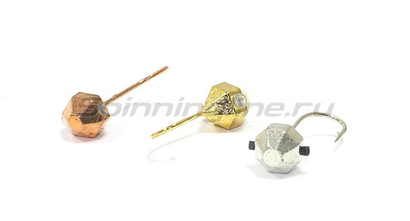 Мормышка Nautilus Дробинка граненая с отверстием d4 002 золото -  2
