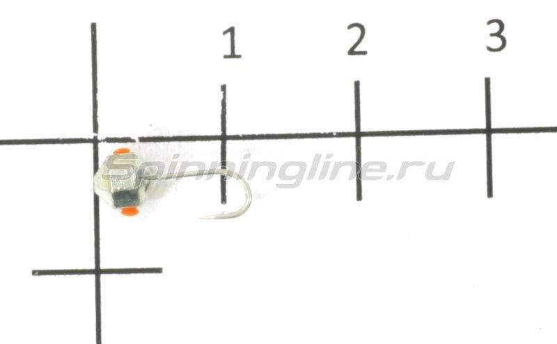Мормышка Nautilus Дробинка граненая с отверстием d4 001 серебро -  1