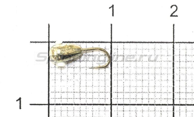 Мормышка Nautilus Капля с отверстием d3 001 серебро -  1