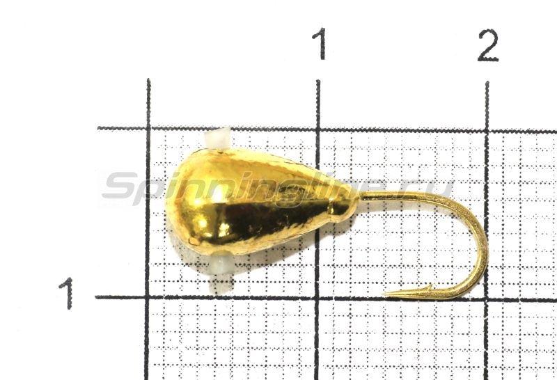 Мормышка Капля с отверстием d6 002 золото -  1