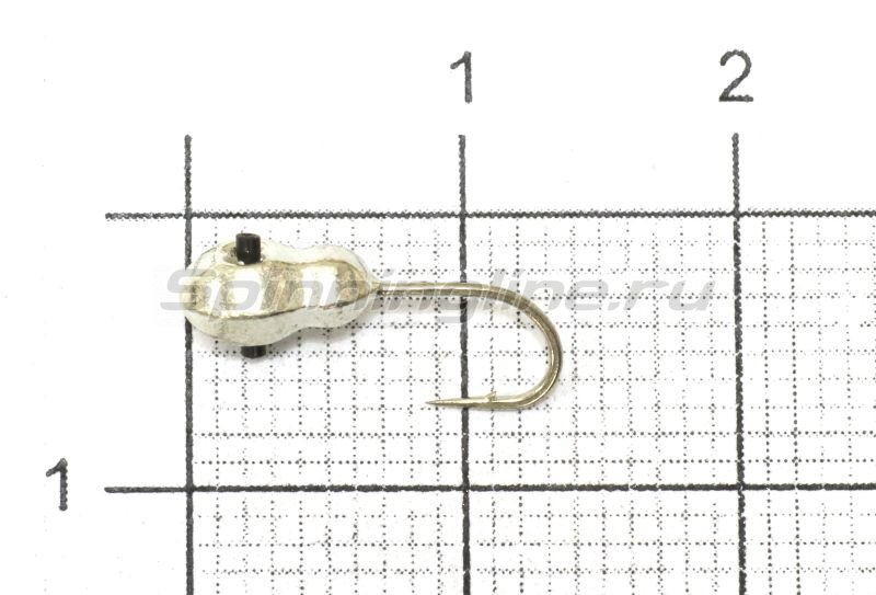 Мормышка Nautilus Матрешка d4 001 серебро -  1
