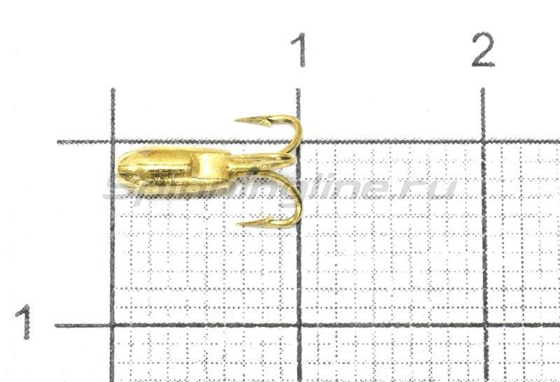 Мормышка Nautilus Чертик ребристый d2.6 002 золото -  1