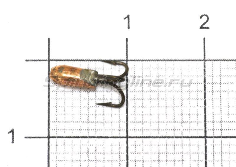 Мормышка Nautilus Чертик ребристый d2.6 003 медь -  1