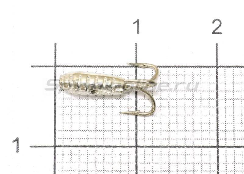 Мормышка Nautilus Чертик ребристый d2.9 001 серебро -  1