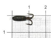 Мормышка Nautilus Чертик ребристый d2.9 004 черный никель