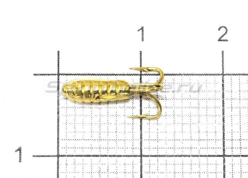 Мормышка Nautilus Чертик ребристый d2.9 002 золото -  1