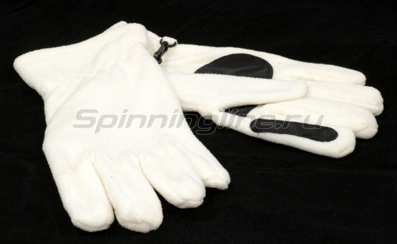Перчатки флисовые Puffin Down W M/L белые -  1