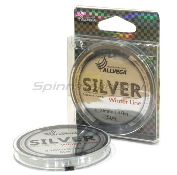 Allvega - Леска Silver 50м 0,10мм - фотография 1