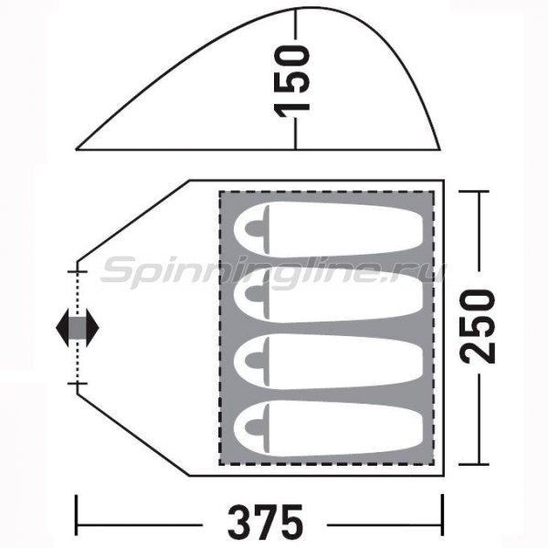 Палатка туристическая Керри 4 V2 -  2