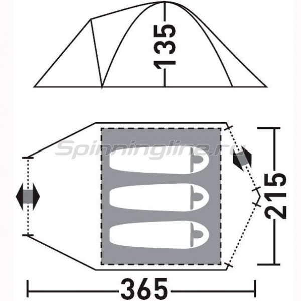Палатка туристическая Лимерик плюс 3 -  2