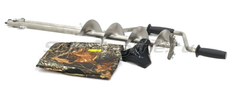 Ледобур титановый Тонар ТЛР-130Д (3 ножа) -  1