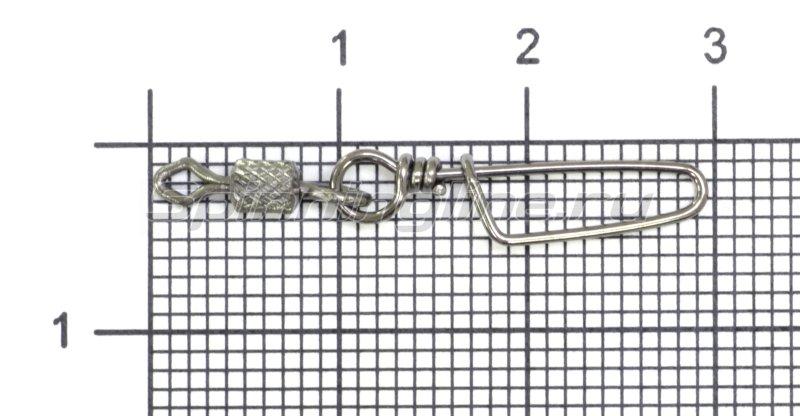 Вертлюг цилиндр с накаткой и застежкой Coastlock №6x1 -  1