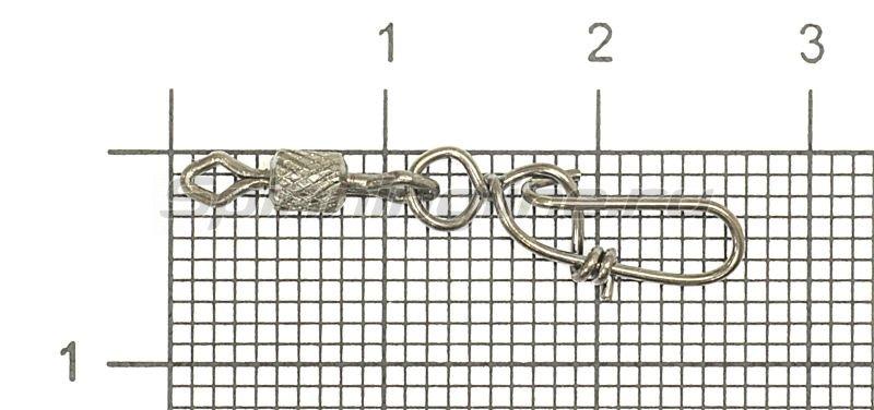 Вертлюг цилиндр с накаткой и застежкой Danish №6x1 -  1
