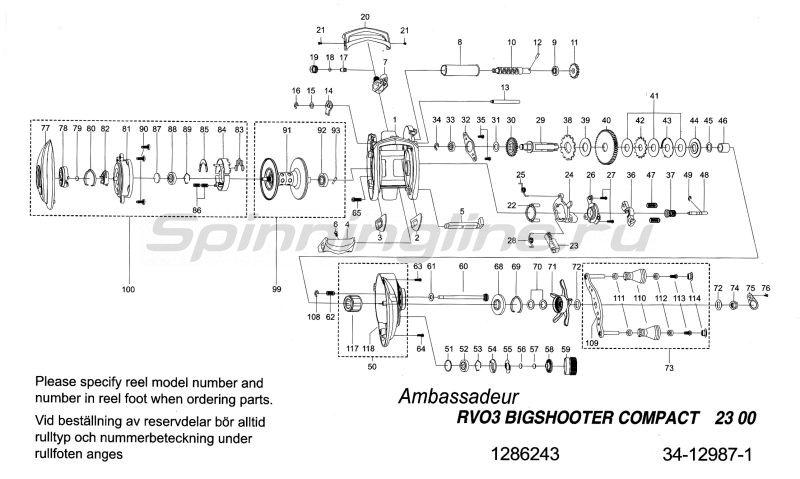 Катушка Revo Bigshooter Compact -  7